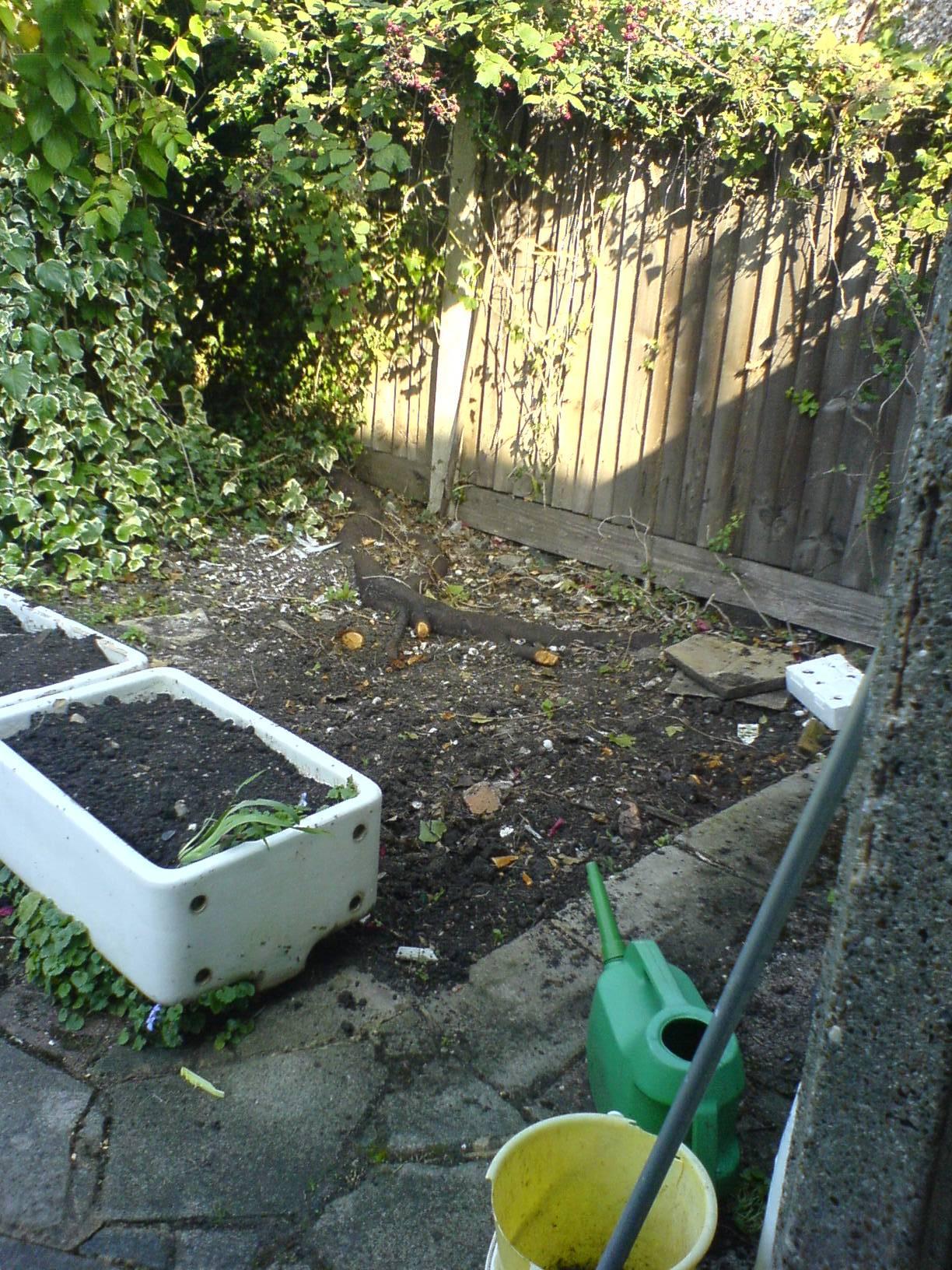 landscaping/decking before 2, Old Malden