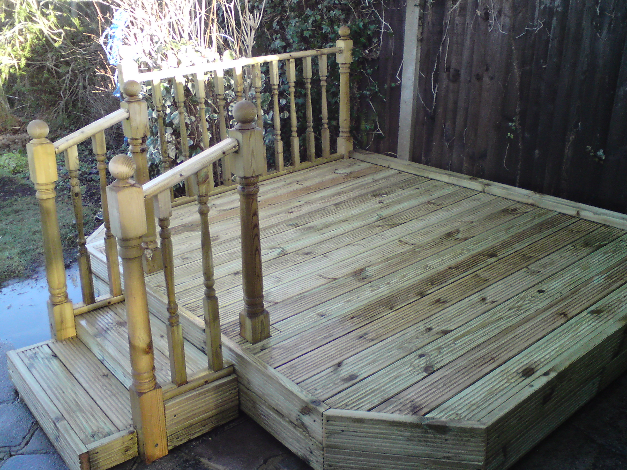landscaping/decking after 2, Old Malden