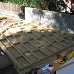 landscaping/decking in progress, Wimbledon Village/park