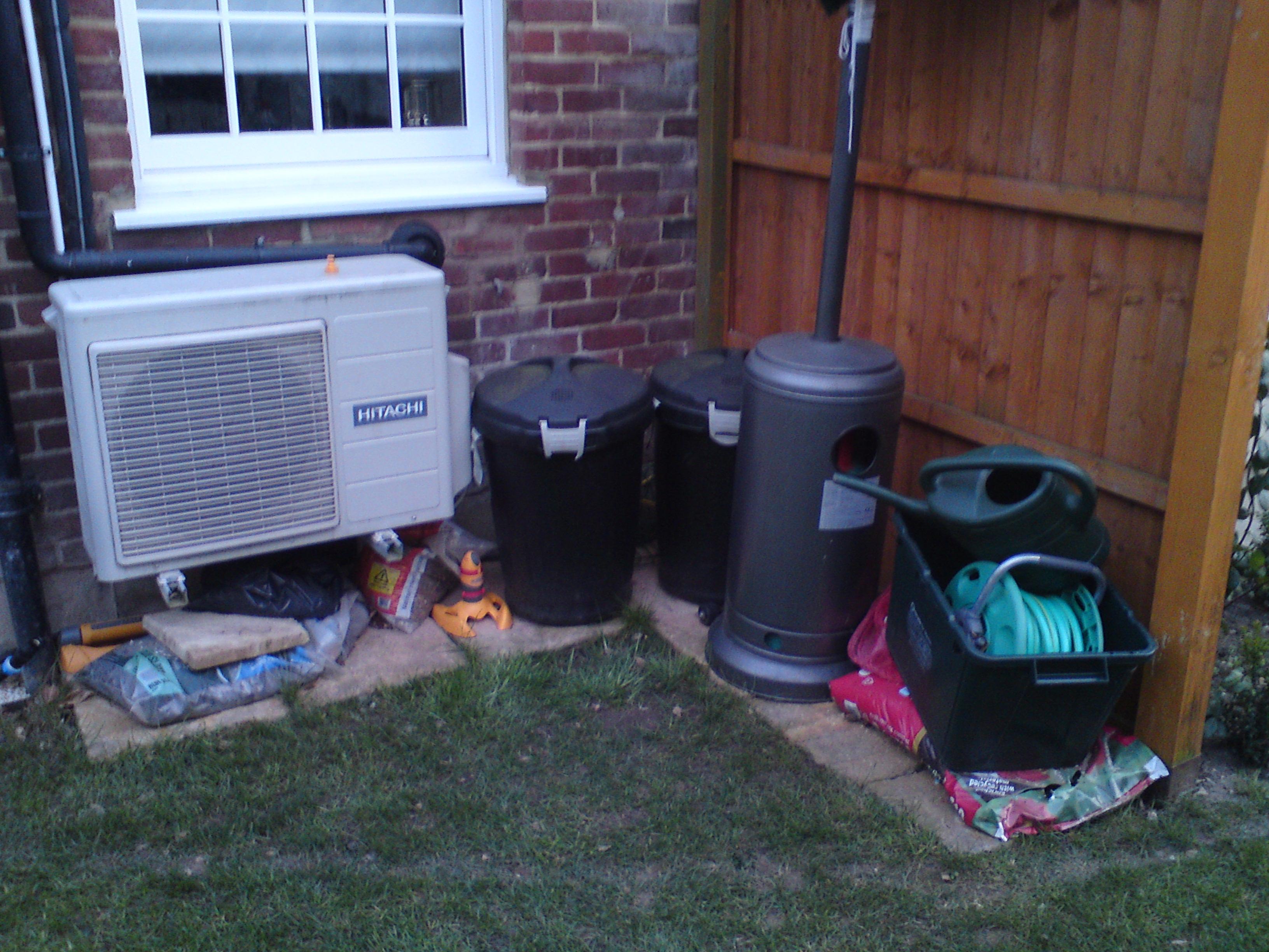 entiry project/carpentry/designer's bin storage before, Wimbledon Village
